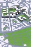 Planificación de un Disctrict, mapa Fotos de archivo