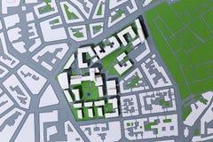 Planificación de un distrito, mapa Fotografía de archivo libre de regalías