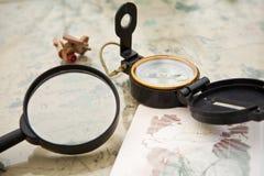 Planificación de un viaje Imagen de archivo libre de regalías