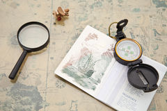 Planificación de un viaje Fotografía de archivo libre de regalías