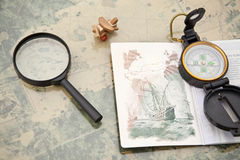 Planificación de un viaje Fotos de archivo libres de regalías