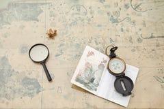 Planificación de un viaje Fotografía de archivo
