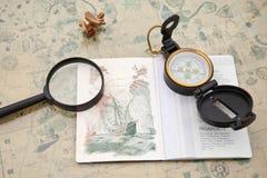 Planificación de un viaje Imagen de archivo