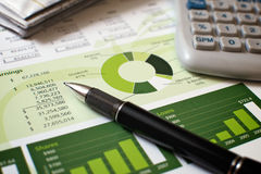 Planificación financiera Foto de archivo libre de regalías