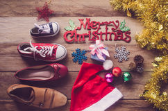 Planificación para el viaje con festival de la Navidad fotos de archivo libres de regalías
