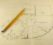 Planificación paisajística Imagen de archivo libre de regalías
