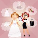 Planificador de la boda Imagenes de archivo