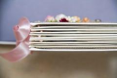 Planificador de la boda del libro de recuerdos Imagen de archivo libre de regalías