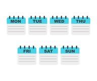 Planificador de la semana de calendario Foto de archivo