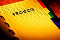 Planificador de proyecto Foto de archivo