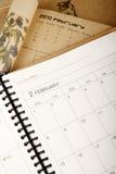 Planificador del año Imágenes de archivo libres de regalías