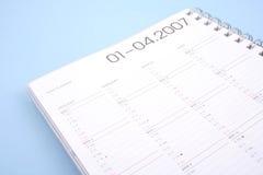 Planificador del año Fotos de archivo libres de regalías