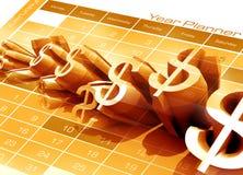 Planificador del año Stock de ilustración