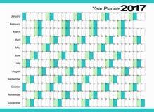 Planificador 2017 del calendario Imagenes de archivo