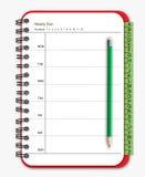 Planificador del cuaderno Foto de archivo