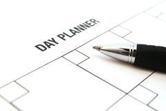 Planificador del día Imagen de archivo libre de regalías