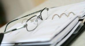 Planificador del día V Imágenes de archivo libres de regalías