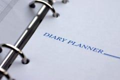 Planificador del diario imagen de archivo libre de regalías