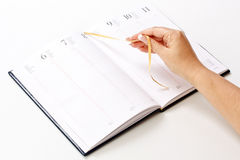 Planificador diario Fotos de archivo