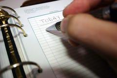 Planificador diario Foto de archivo libre de regalías