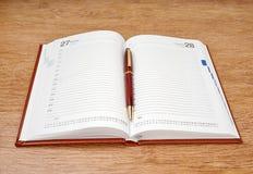 Planificador diario Imagen de archivo