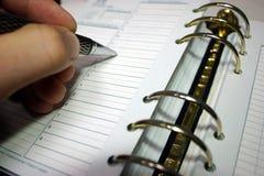 Planificador diario Fotos de archivo libres de regalías