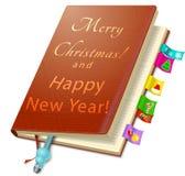 Planificador diario del negocio de la Navidad Fotos de archivo