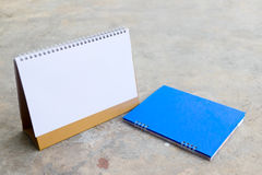 Planificador en blanco del calendario Foto de archivo libre de regalías