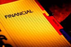Planificador financiero imagen de archivo