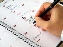 Planificador mensual Fotos de archivo libres de regalías