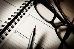 Planificador mensual Imágenes de archivo libres de regalías