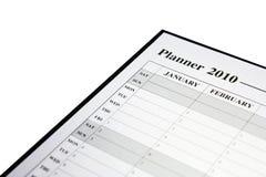 Planificador para 2010 Fotografía de archivo