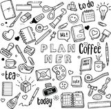 Planificador y diario libre illustration