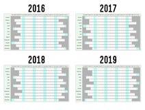 Planificadores del año Imagen de archivo