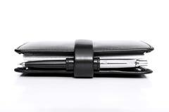 Planificateur avec le crayon lecteur Photo libre de droits