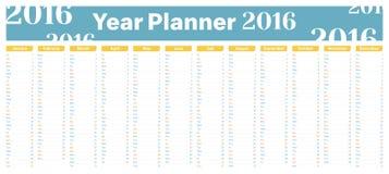 Planificateur 2016 d'année Photographie stock