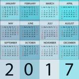 Planificateur de calendrier 2017 ans illustration libre de droits
