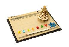 Planificateur de fête de Noël Images stock