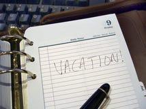 Planificateur de vacances Photographie stock