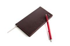 Planificateur et crayon lecteur Image stock