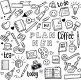 Planificateur et journal illustration libre de droits
