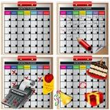 Planificateur mensuel Image stock