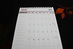 Planificateur ou calendrier de nouvelle année photo stock