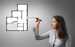 planification à la maison Photo libre de droits