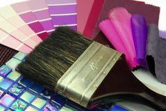 Planification à la maison de décoration photographie stock libre de droits