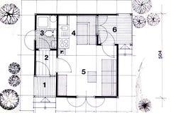 Planification d'architecture Image libre de droits