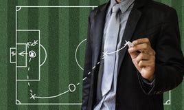 Planification d'un match de football Photos stock
