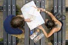 Planification d'un voyage images libres de droits