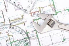 Planification d'une maison image libre de droits