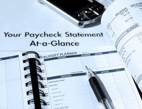 Planification de charges personnelles et de budget photographie stock